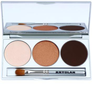 Kryolan Basic Eyes Lidschatten-Palette inkl. Spiegel und Pinsel