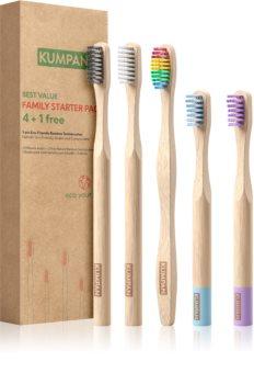 KUMPAN AS06 bambusový zubní kartáček dárková sada