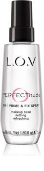 L.O.V. PERFECTitude fixační sprej na make-up 3 v 1