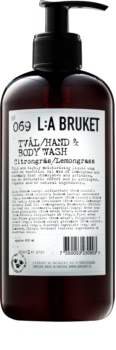 L:A Bruket Body Lemongrass Liquid Soap for Hands and Body