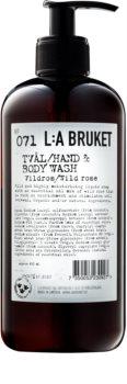 L:A Bruket Body Flüssigseife mit wilder Rose für Hände und Körper