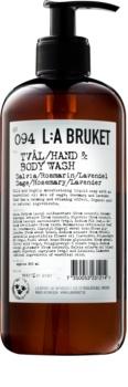 L:A Bruket Body folyékony szappan zsályával, rozmaringgal és levendulával kézre és testre