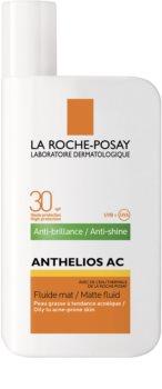 La Roche-Posay Anthelios AC ochranný matující fluid na obličej SPF 30