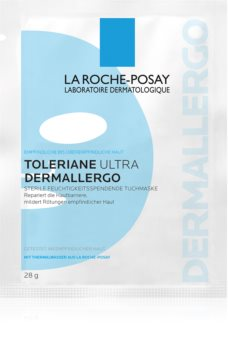La Roche-Posay Toleriane Ultra Dermallergo maseczka płócienna o działaniu nawilżającym i łagodzącym dla cery wrażliwej