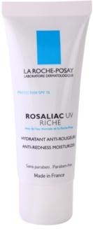 La Roche-Posay Rosaliac UV Riche подхранващ успокояващ крем за чувствителна кожа, склонна към зачервяване SPF 15