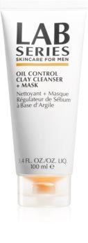 Lab Series Oil Control Clay Cleanser + Mask maschera detergente per pelli grasse