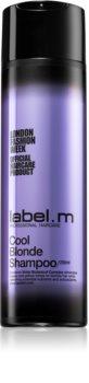 label.m Cool Blonde shampoo per capelli biondi neutralizzante per toni gialli