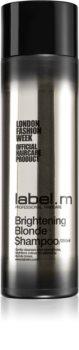 label.m Brightening Blonde Shampoo zum Schutz blonder Haarfarbe