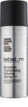 label.m Complete formázó dúsító spray a barna és sötét árnyalatú hajra