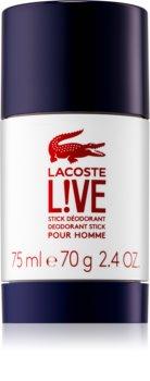 Lacoste Live desodorizante em stick para homens 75 ml