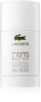 Lacoste Eau de Lacoste L.12.12 Blanc desodorizante em stick para homens