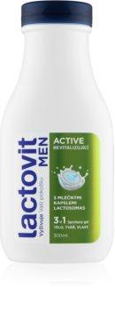 Lactovit Active gel de douche pour homme 3 en 1