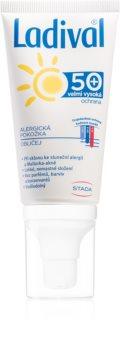 Ladival Alergická pokožka ochranný krémový gel na opalování proti sluneční alergii na obličej, krk a dekolt