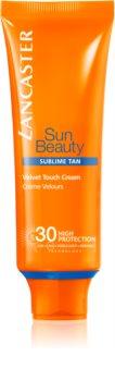 Lancaster Sun Beauty Velvet Cream Zonnebrandcrème voor Gezicht  SPF 30