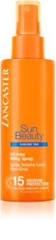 Lancaster Sun Beauty Oil-Free Milky Spray nemastné mléko na opalování ve spreji SPF 15