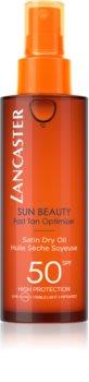 Lancaster Sun Beauty Satin Dry Oil olio abbronzante secco in spray SPF 50