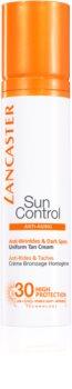 Lancaster Sun Control opalovací krém na obličej s protivráskovým účinkem SPF 30