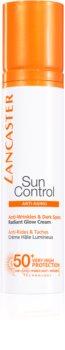 Lancaster Sun Control krem do opalania do twarzy z efektem przeciwzmarszczkowym SPF 50+
