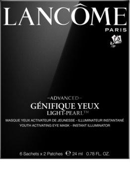 Lancôme Génifique Advanced Yeux Light-Pearl™ маска за очи под формата на лепенка за подмладяване на кожата на лицето