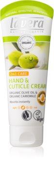 Lavera Olive & Camomile nährende Creme für Hände und Fingernägel 2 in 1