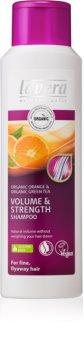 Lavera Volume & Strength шампунь для придания максимального объема волос