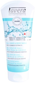 Lavera Basis Sensitiv gel za prhanje za telo in lase