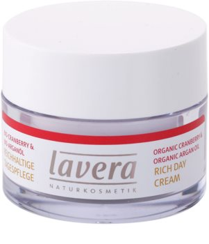 Lavera Faces Bio Cranberry and Argan Oil creme nutritivo anti-manchas de pigmentação