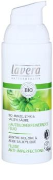 Lavera Faces Bio Mint fluide hydratant pour peaux grasses