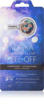 L'biotica Masks Diamond Glow slupovací pleťová maska se zpevňujícím účinkem