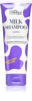 L'biotica Professional Therapy Milk Hiustenpesuaine Kiiltäville Ja Pehmeille Hiuksille