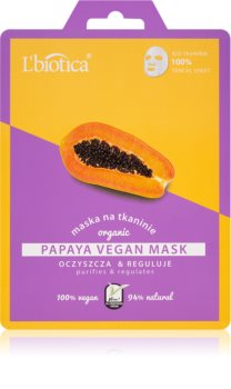 L'biotica Vegan Organic Papaya почистваща маска за лице