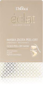 L'biotica Masks Golden Glow zlupovacia pleťová maska
