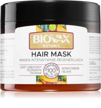 L'biotica Biovax Botanic Elvyttävä Hiusnaamio