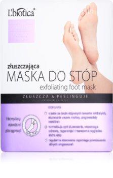 L'biotica Masks ексфолиращи чорапи за омекотяване и хидратиране кожата на краката.