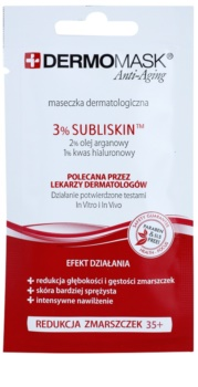 L'biotica DermoMask Anti-Aging pleťová maska s protivráskovým účinkom 35+