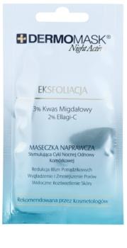 L'biotica DermoMask Night Active maschera esfoliante per rigenerare la superficie della pelle