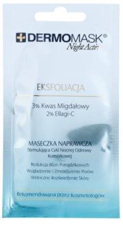 L'biotica DermoMask Night Active ексфолираща маска за възобновяване на повърхността на кожата