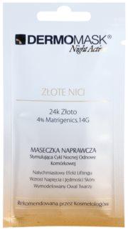 L'biotica DermoMask Night Active маска с лифтинг и стягащ ефект с 24 каратово злато
