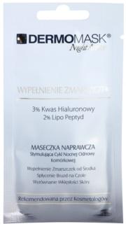 L'biotica DermoMask Night Active máscara fácil antirrugas antirrugas profundas