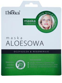 L'biotica Masks Aloe Vera платнена маска с регенериращ ефект