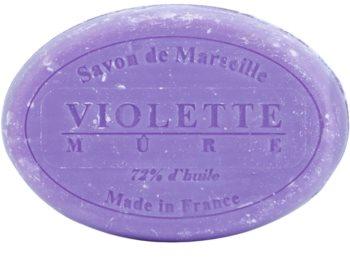 Le Chatelard 1802 Violet & Blackberry kulaté francouzské přírodní mýdlo