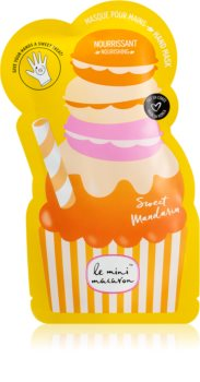 Le Mini Macaron Sweet Mandarin Maske mit ernährender Wirkung für die Hände