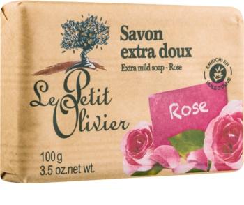 Le Petit Olivier Rose extra jemné mydlo