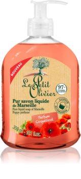 Le Petit Olivier Poppy Perfume folyékony szappan