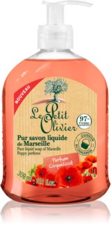 Le Petit Olivier Poppy Perfume tekuté mydlo