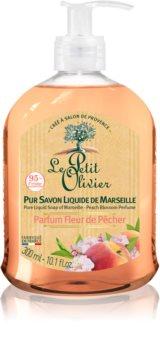 Le Petit Olivier Peach Blossom tápláló folyékony szappan