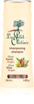 Le Petit Olivier Olive, Shea & Argan šampon za suhu i oštećenu kosu