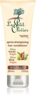 Le Petit Olivier Olive, Shea & Argan kondicionér pro suché a poškozené vlasy