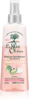 Le Petit Olivier Sweet Almond & Rice Cream après-shampoing sans rinçage pour cheveux normaux