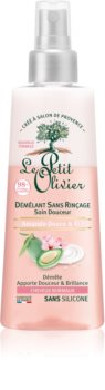 Le Petit Olivier Sweet Almond & Rice Cream Conditioner ohne Ausspülen für normales Haar